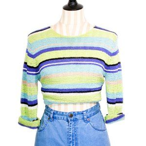 """VINTAGE """"IM Collection"""" Shimmery Colorblock Top"""